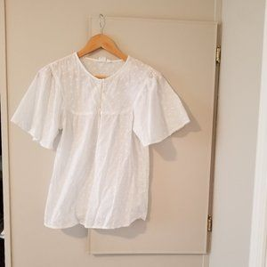 Gap ruffle short sleeve blouse
